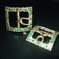 Jeweled shoe buckle