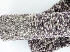 <strong>Amethyst and cream large stockings</strong>