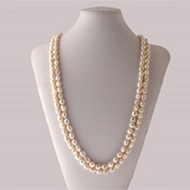 <strong>White Pearl 7mm Ann's Beauty Necklace</strong>