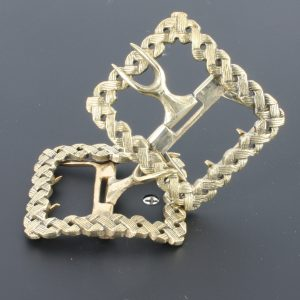 Ladies Plain Colonial White Bronze Shoe Buckle