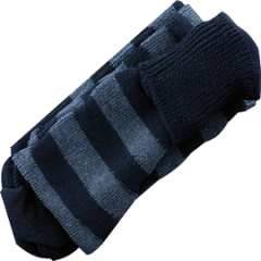 denim/navy stripe stocking