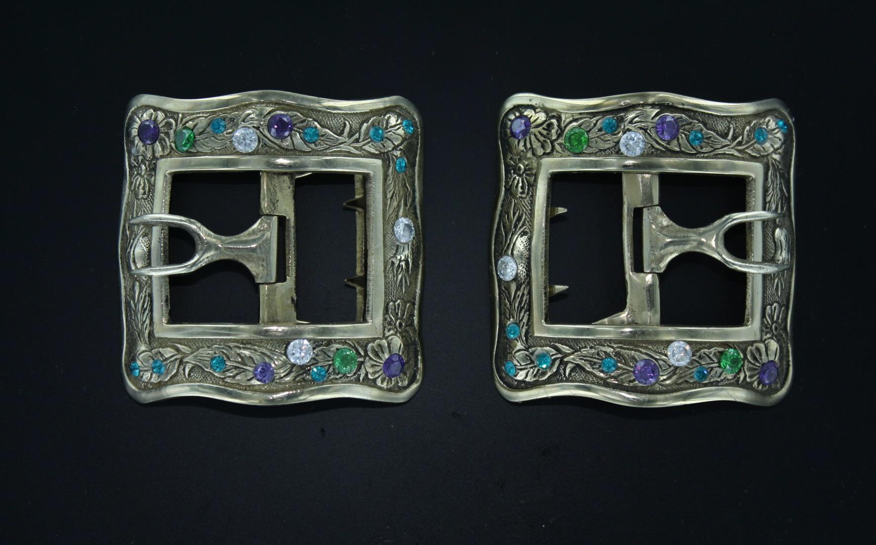 Jeweled shoe buckle