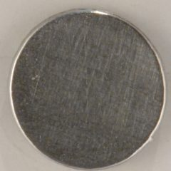 plain flat pewter button, 3/4″, F128