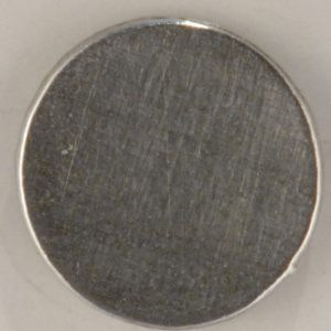 plain flat pewter button, 1-1/8″, L128