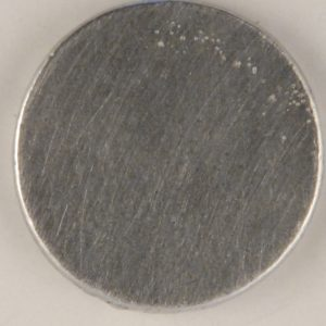 130 L  7/8ths flat pewter button Can be personalized