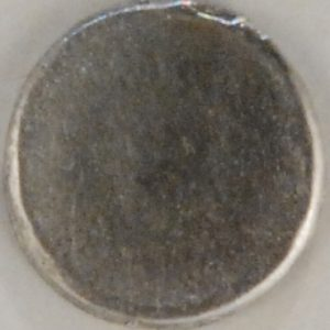 flat with a rim Pewter Button, 147