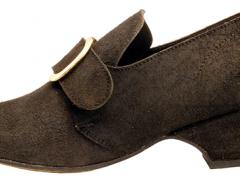 Connie, Black-rough-out Colonial shoe