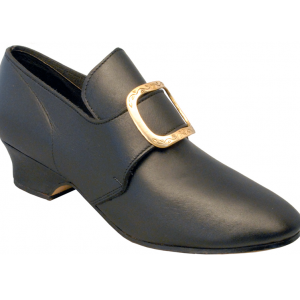 Connie, black-smooth Colonial Shoe