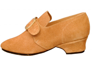 Connie, natural-rough-out Colonial shoe