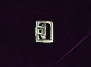 Knee Buckles, White Bronze Square