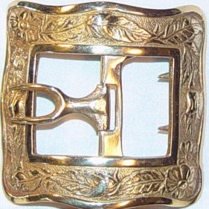 Great Thistle shoe buckle, Brass