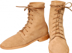 Hi-Low Trekkers, straight last, natural rough-out leather
