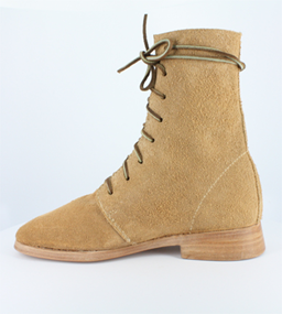 Colonial Natural Half Boots, Trekker series left/right rough-out