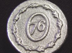 Military Pewter Button, 7/8″, 77. Hand made in the USA