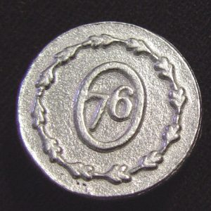 77 L, Military Pewter Button