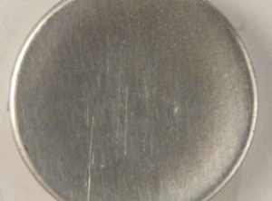 105 M Concave Pewter Button. Hand made in the USA