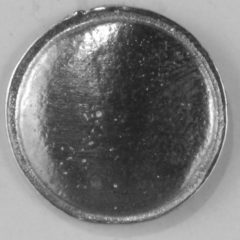 domed with rim, pewter button,108