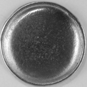 domed with rim, pewter button, 110