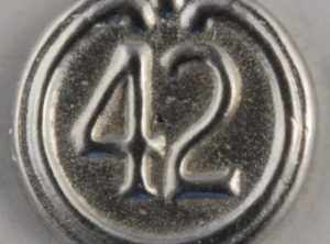 42nd highlander, Military Pewter button, 1/2 inch, 114. Hand made in the USA