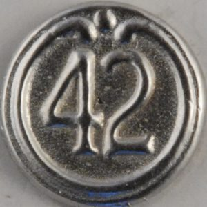 42nd highlander, Military Pewter button, 1/2 inch, 114