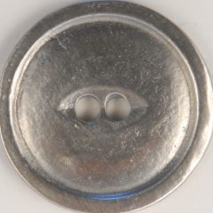 2 Hole Pewter Button, 2 hole with rim, 116