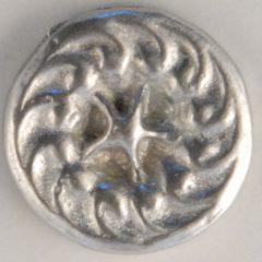 star-swirl, center star Pewter Button, 5/16″, 117