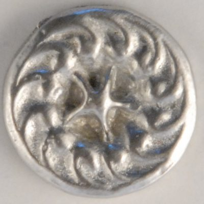 star-swirl, center star Pewter Button, 5/16″, 117