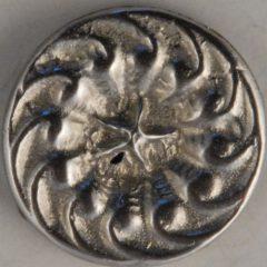 Swirl-star, center star Pewter Button, 11/16″, 118