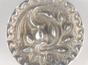Floral Pewter Button, ragged edge, 9/16″, 133