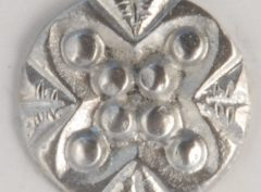 Stud, Pewter Button, 1/2″, 134. Hand made in the USA