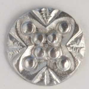 Stud, Pewter Button, 1/2″, 134