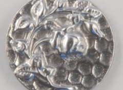 Rose design, old rose, Pewter Button 5/8, 135. Hand made in the USA