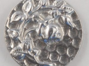 Rose design, old rose, Pewter Button 5/8, 135