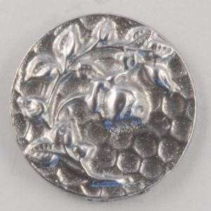 135 Rose design, Pewter Button 5/8ths