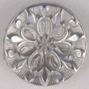 Opening Bud, concave, Pewter Button, 136