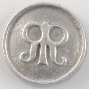 137 S Roger's Rangers Pewter Button