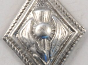 Diamond Thistle, musician pewter button, 5/8″x3/4″, 139. Hand made in the USA