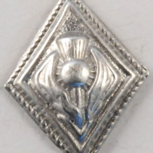 Diamond Thistle, musician pewter button, 5/8″x3/4″, 139