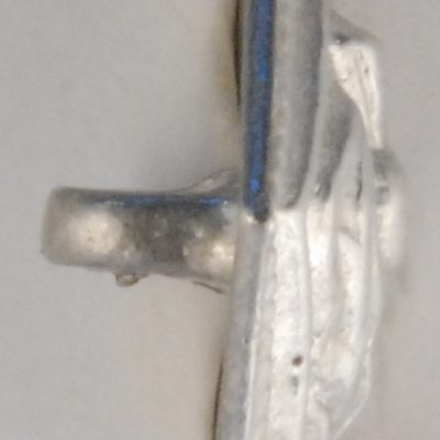Diamond Thistle, musician pewter button, 5/8″x3/4″, 139