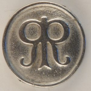 142 L Roger's Rangers Pewter Button