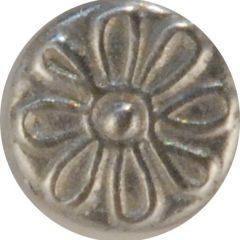 Daisy, tiny Pewter Button, 3/8″, 145