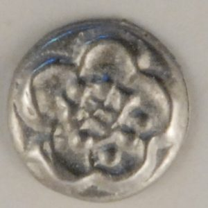 146 Chrysanthemum Pewter Button