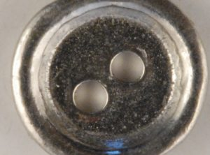 2 Hole Pewter Button, 2 hole with rim, 5/8″ 151. Hand made in the USA