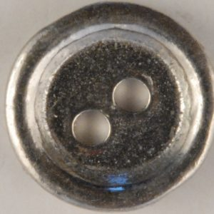 2 Hole Pewter Button, 2 hole with rim, 151