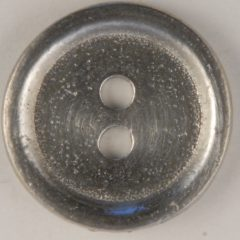 2 Hole Pewter Button, 2 hole with rim, 152