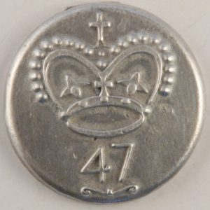 153 L- 47th Officers Pewter Button