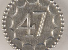 Enlisted 47th Pewter Button 9/16TH, 156. Hand made in the USA