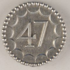 long-shank, 47th enlisted Pewter Button 7/8 inch, 154