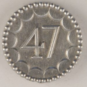 156 Enlisted 47th Pewter Button 9/16THS