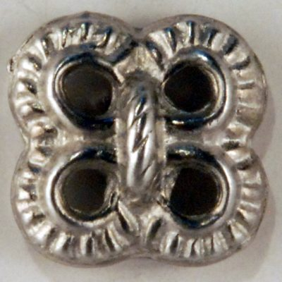 Lover's Knot Pewter Button